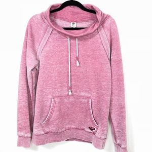 Roxy High Neck Drawstring Sweatshirt Sz Large